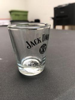 "Jack Daniels Lynchburgh ""Old NO 7"" Shot Glass Lem Motlow Proprietor • Vintage Thumbnail"