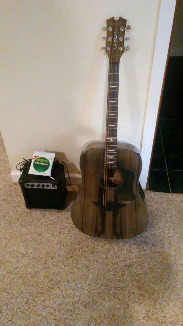 Keith Urban Electric Acoustic With Amp Chord And Xtra Strings For