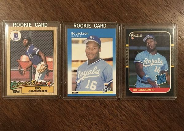 Original Bo Jackson Rookie Rc Card Lot Nm Mt Topps Fleer Donruss For Sale In Lemont Il Offerup