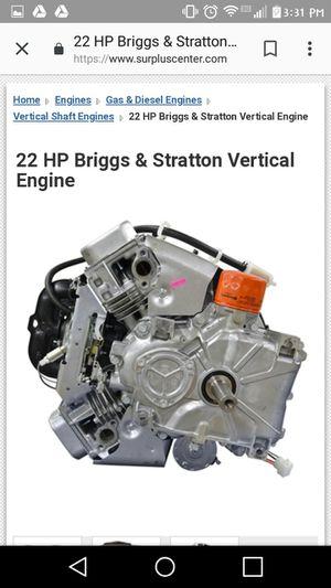 22HP Briggs & Stratton motor for Sale in Rustburg, VA