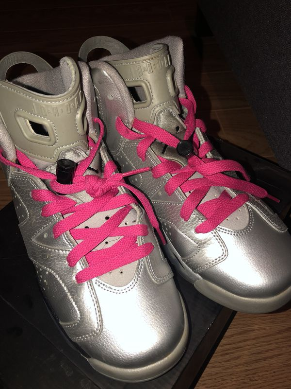 "check out 20a72 445ba ✨👟Air Jordans 6 Retro ""Valentines Day"" 💘Metallic Silver Vivid Pink-Black  for Sale in Ewing Township, NJ - OfferUp"