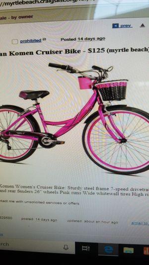 New Susan Komen bike for Sale in Myrtle Beach, SC