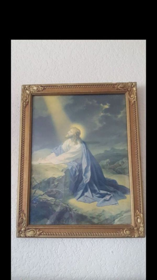 Jesus picture and Great Frame for Sale in Chicago, IL - OfferUp