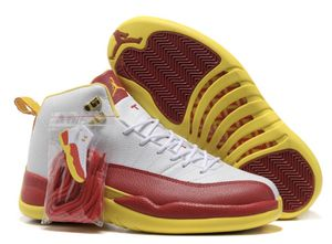 5cc37859f17134 Air Jordan retro 12.Dwade white red yellow for Sale in Jonesboro