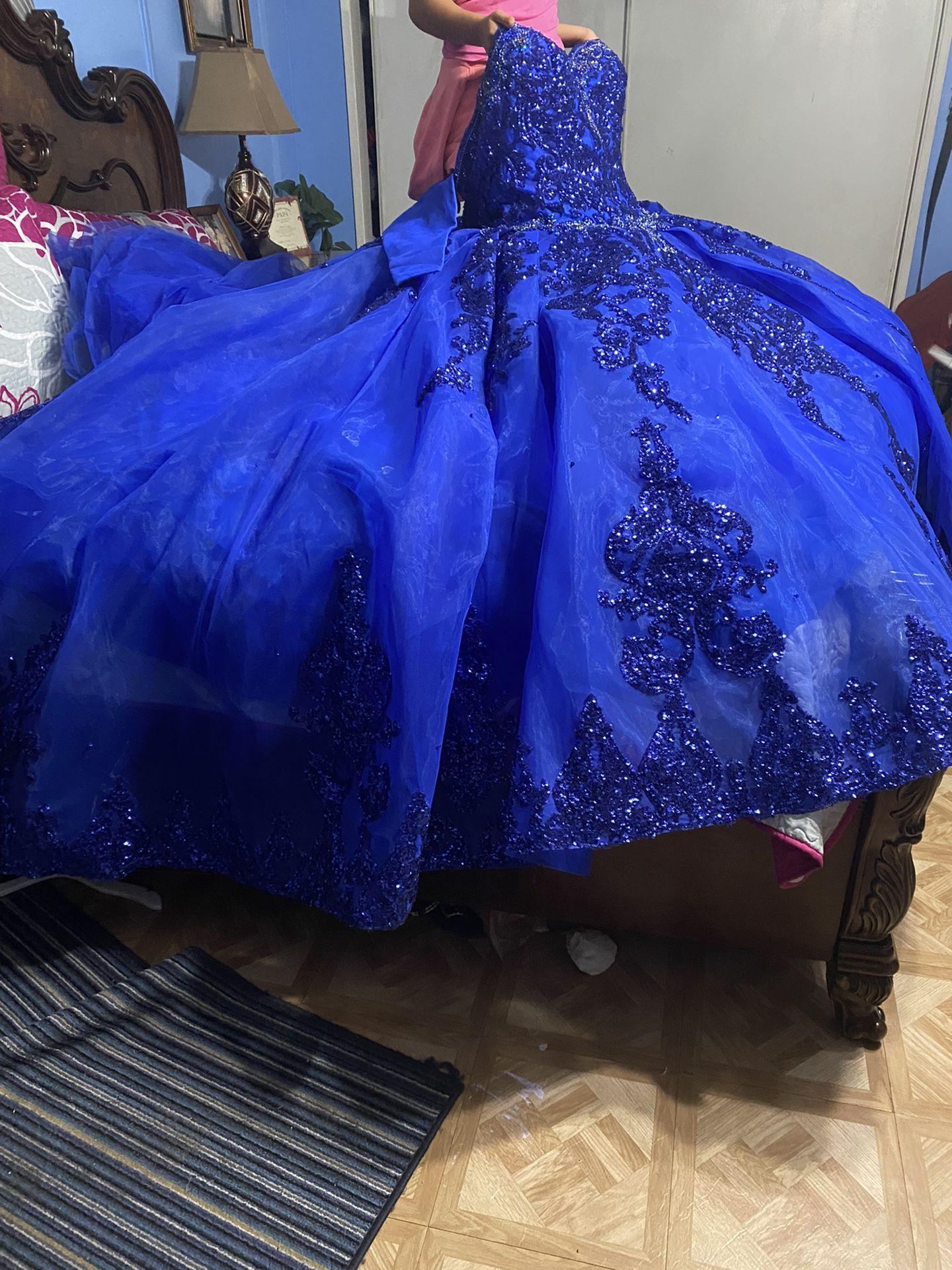 Royal Blue Quinceañera Dress