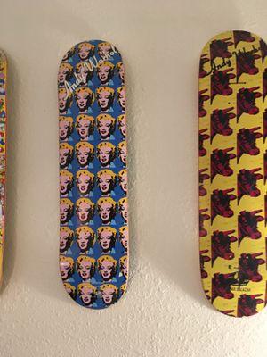 Andy Warhol alien workshop special edition skate decks never ridden for Sale in Denver, CO