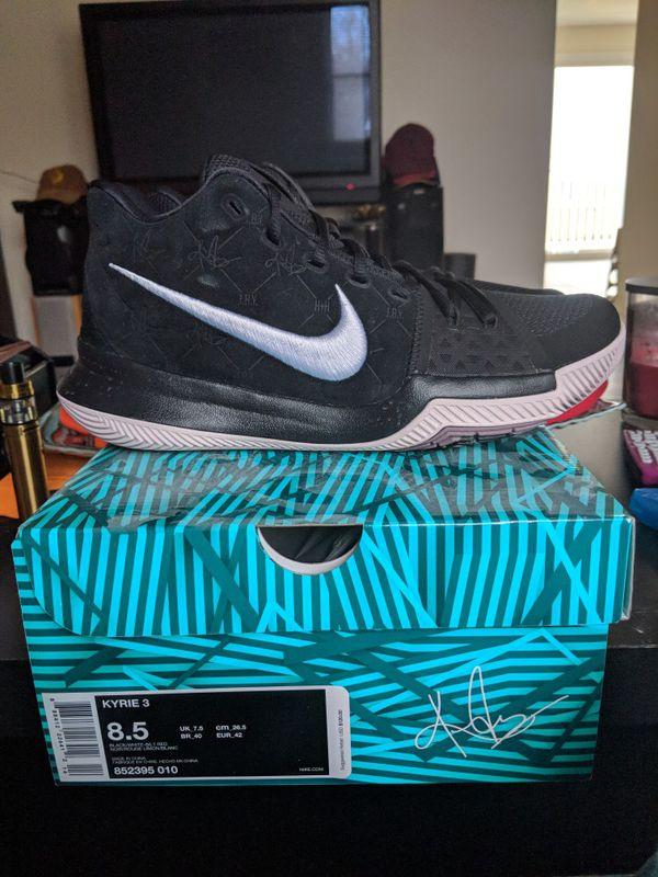 4118135218c7 Nike Kyrie 3 Black Suede for Sale in Binghamton