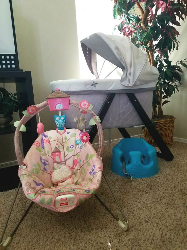 Perefect Condition Baby Essentialsingenuity Rocker Baby Bassinet Fisher Price Baby Bouncer Bumbu Floor Seat For Sale In Laveen Village Az