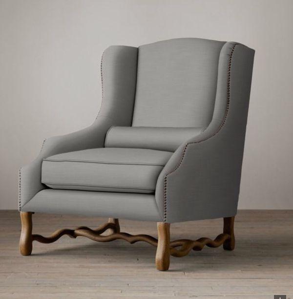 2 Restoration Hardware Wingback Chairs For Sale Originally 3k