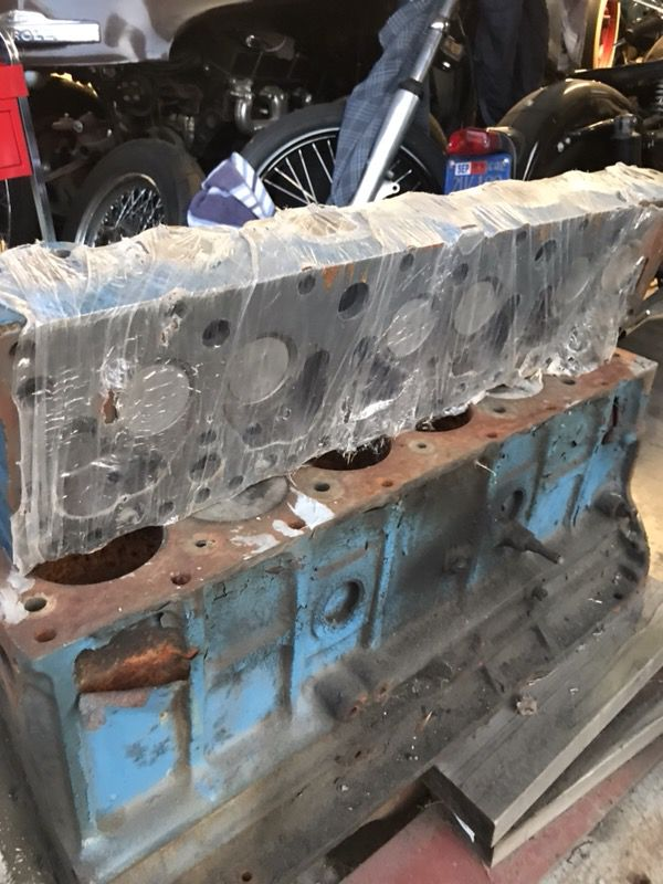 Inline 6 cylinder chevy engine with rebuilt head! Blue flame 235 engine for  Sale in Los Angeles, CA - OfferUp