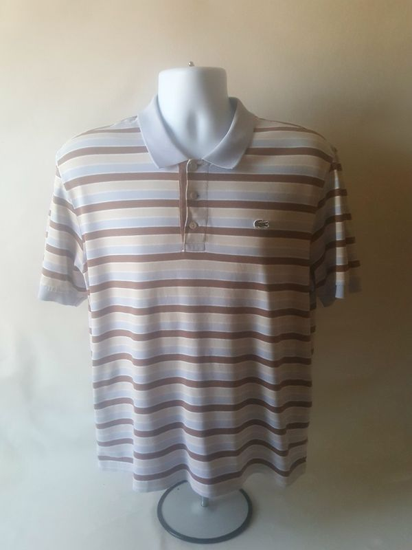 e3dff9ef0 Lacoste men s striped polo shirt size 5 for Sale in Fall River