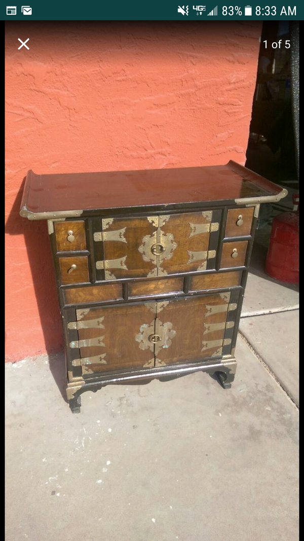 Vintage Oriental Furniture Korean Antique Style 4 Drawer End Table Cabinet Night Stand Antiques In Mesa Az Offerup