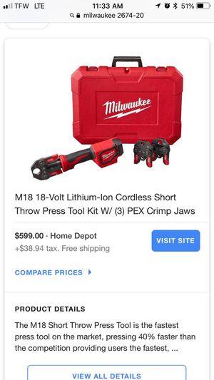 Milwaukee Power Tool set 18v lithium for Sale in Orlando, FL