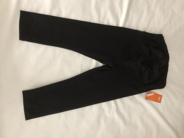 7f267d92f3b Lucy Maternity Belly Band Capri legging pant size large color black  (Clothing   Shoes) in Woodinville