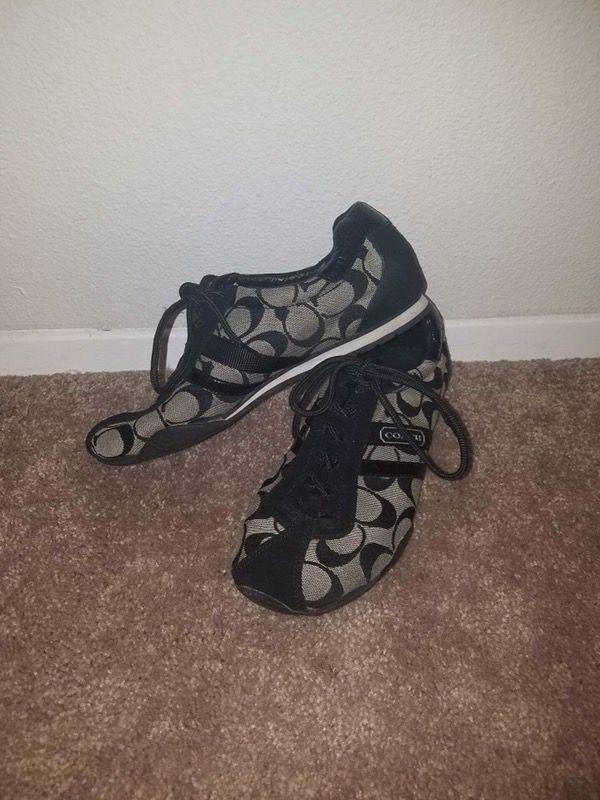 Authentic black coach shoes