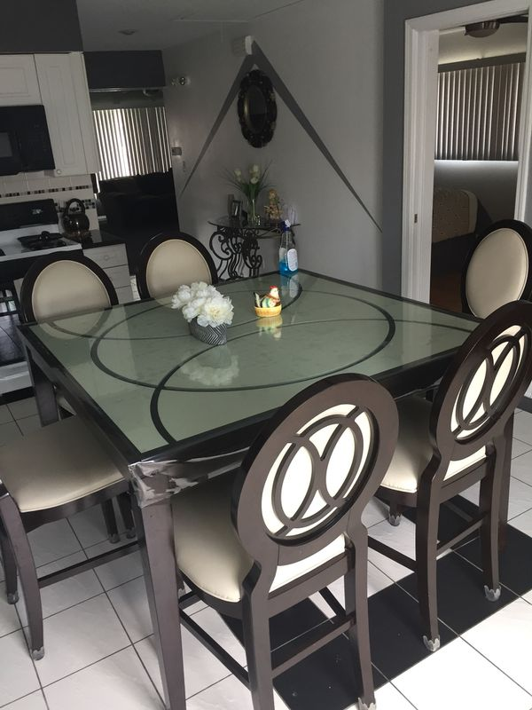 a78f430ec0 Cosmo counter-Height table and 6 chairs-Merlot for Sale in Evergreen Park,  IL - OfferUp