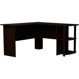Ameriwood L Shaped Desk In Dark Russet Cherry Household