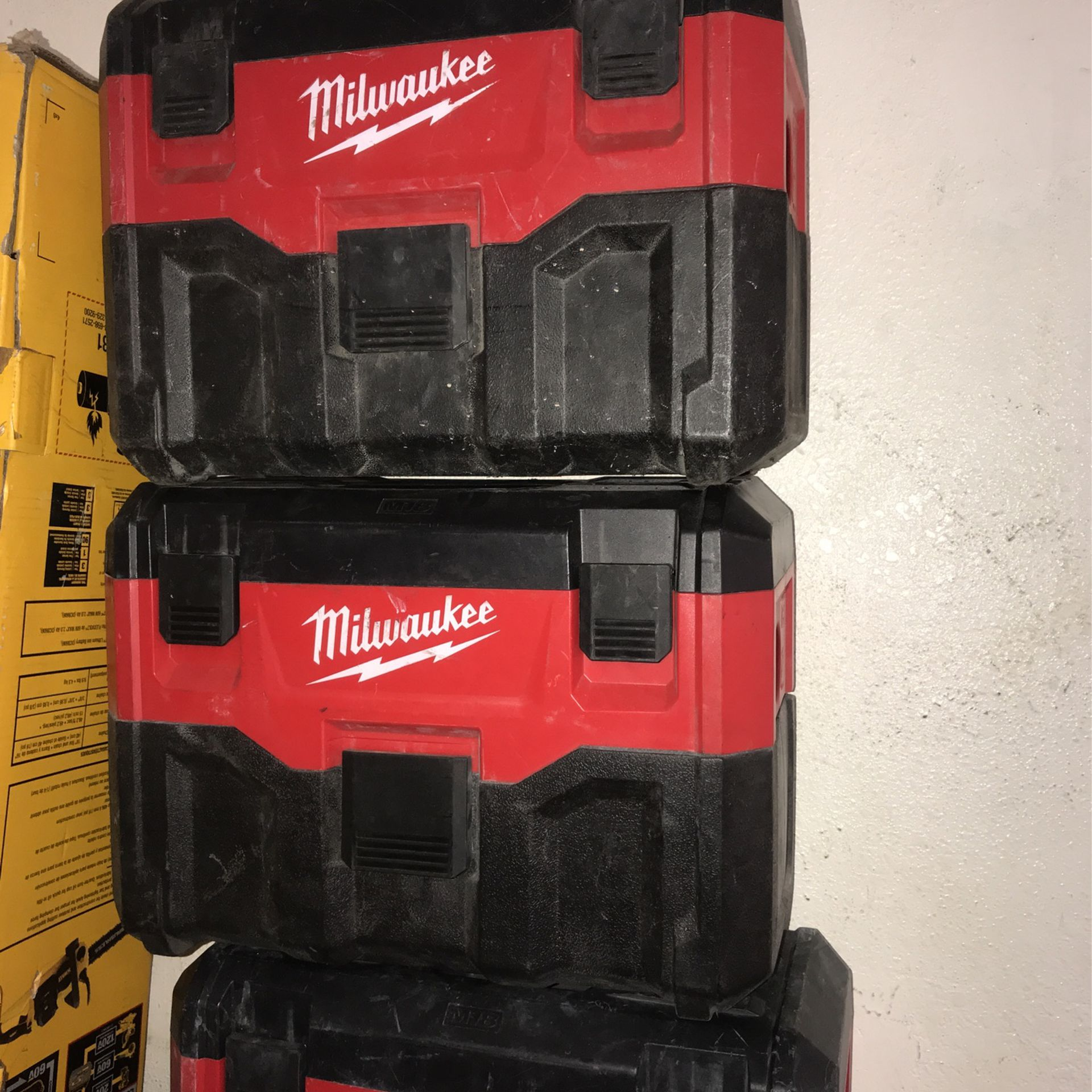 Milwaukee M18 Shop Vacuum Tool Only Each $50