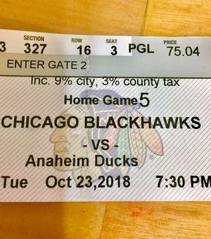 8 BLACKHAWKS Tickets: Tues, 10/23-$20ea for Sale in Chicago, IL