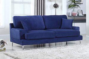 LIKE NEW soft velvet blue sofa for Sale in Miami, FL