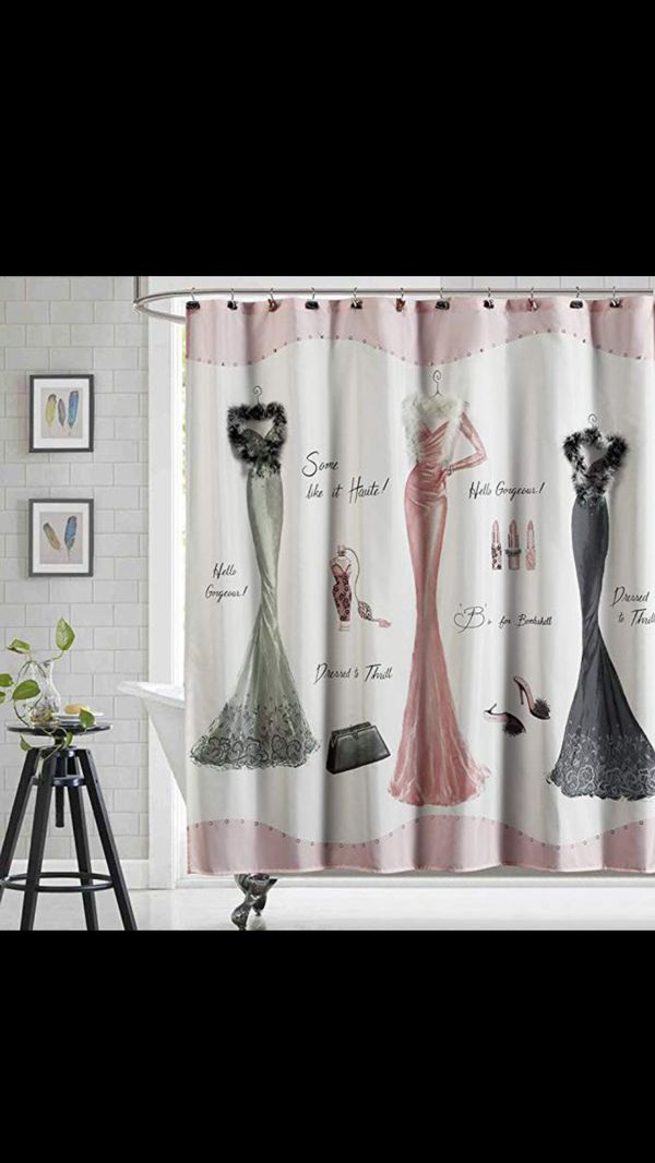 Girly Shower Curtain With Hooks For Sale In Las Vegas NV