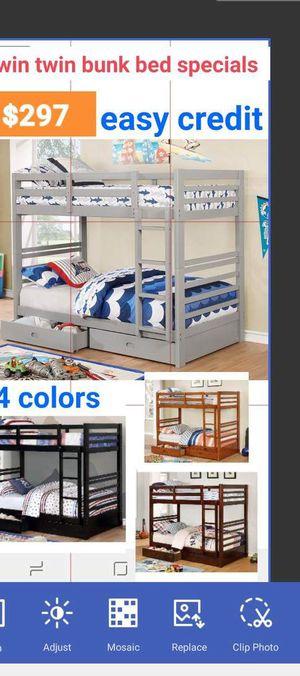 Photo BRAND NEW TWIN TWIN BUNK BED ADD MATTRESS TWIN AND FULL ADD FURNITURE AVAILABLE LITERA INDIVIDUAL MATRIMONIAL