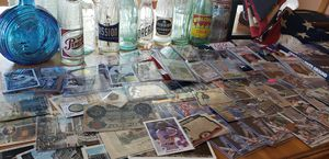 Vintage Baseball cards, Bottles, post cards and Military Memorabilia. for Sale in Stockton, CA