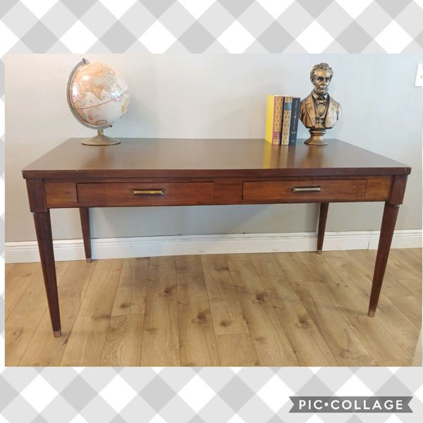 Mid Century Modern Executive Desk Table For Sale In Cypress Tx