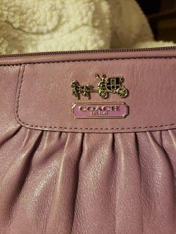 COACH Leather Wristlet Thumbnail