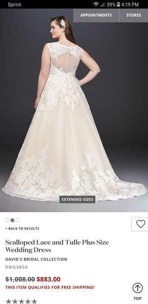 New and used Plus size wedding dresses for sale - OfferUp