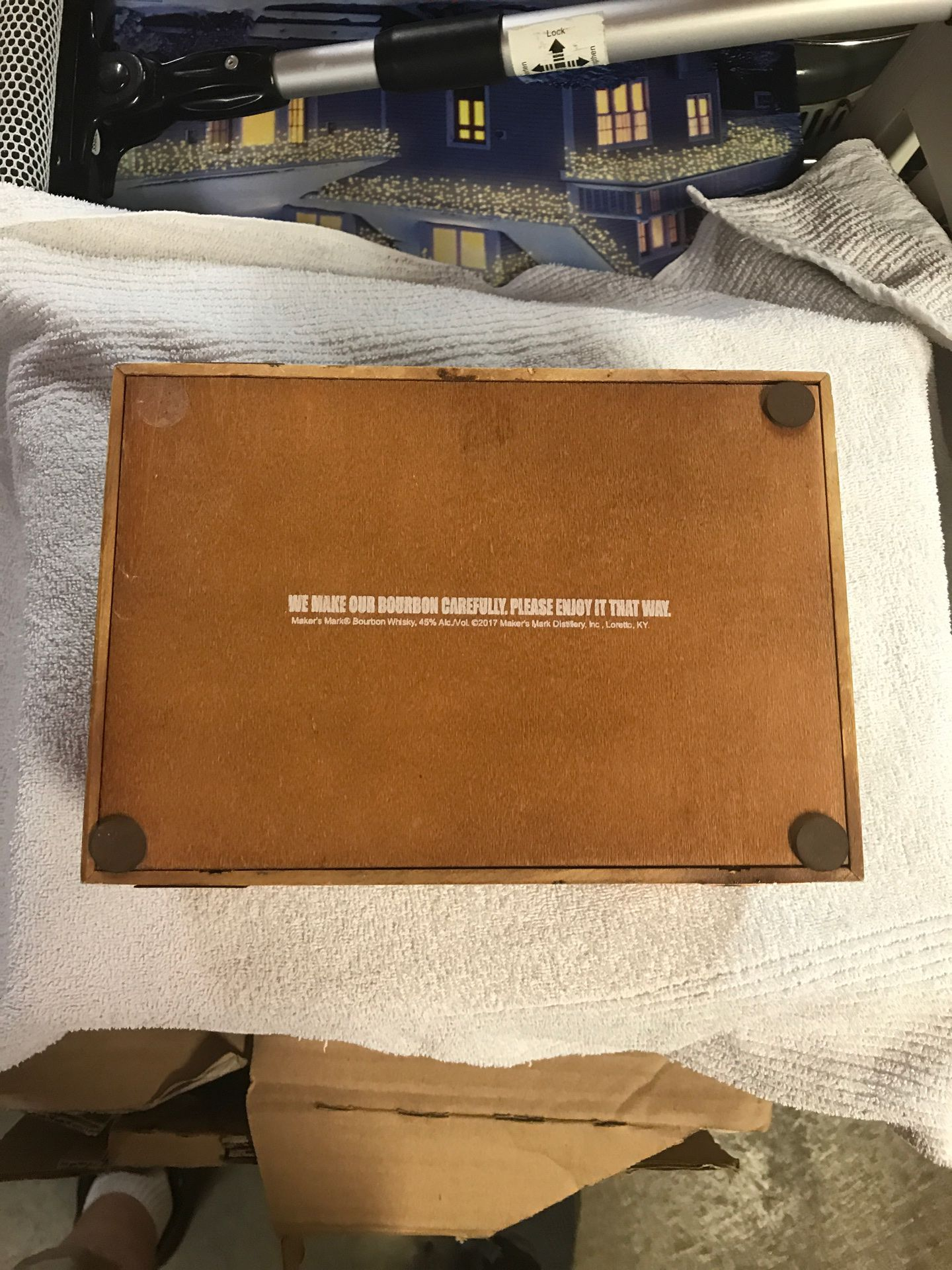 Makers mark wooden box with copper accents