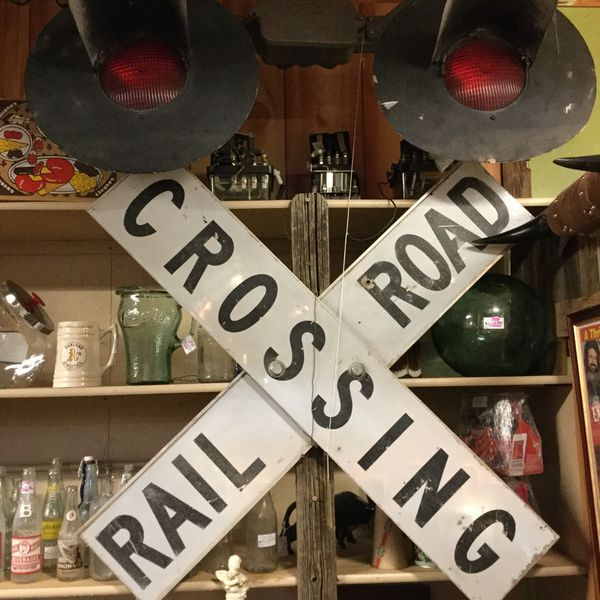 Vintage railroad crossing sign with signal and switches for Sale in  Avondale, AZ - OfferUp