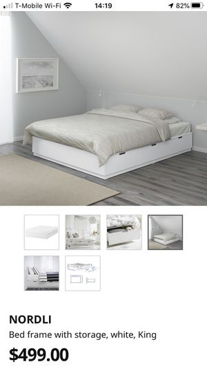 Photo IKEA Nordli bed frame - double / queen