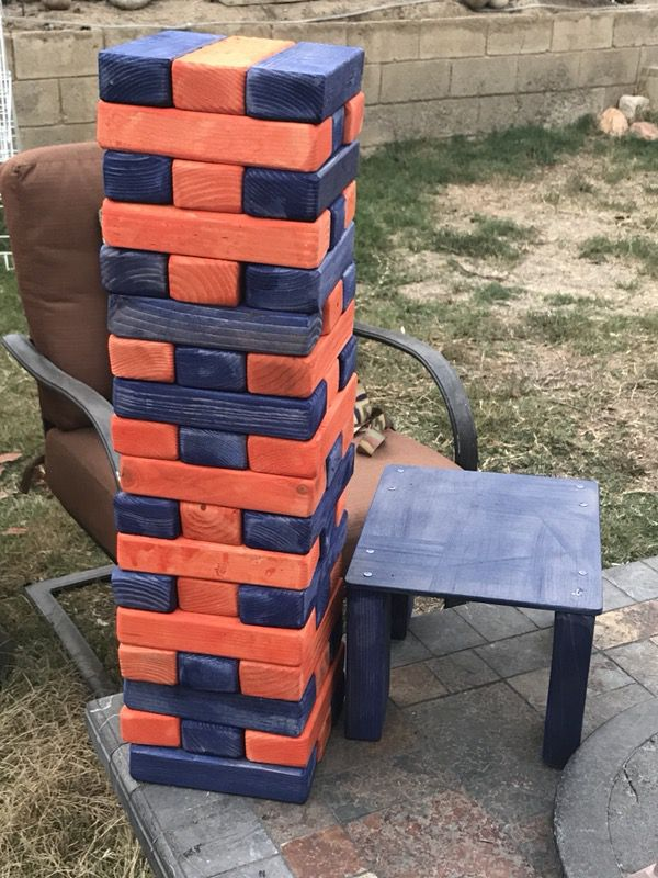 GiaNt Jenga game tumbling tower 2 colors of your choice ...