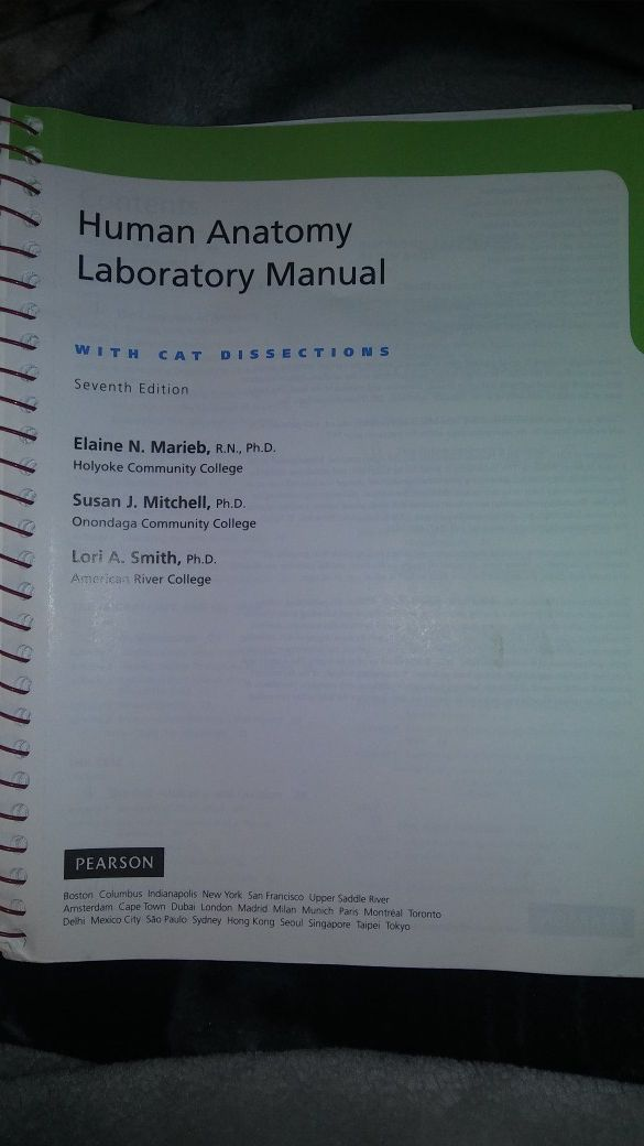 Human Anatomy Laboratory Manual With Cat Dissections 7th Edition And