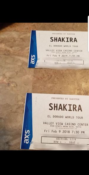 New and used tickets for sale in chula vista ca offerup chula vista ca shakira for sale in spring valley ca reheart Images
