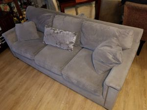 Suede Sofa great condition for Sale in Olney, MD