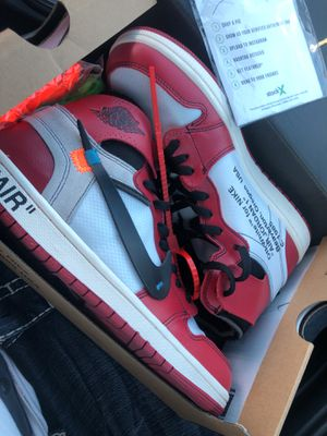 Photo OFF WHITE JORDAN 1S/SIZE 10 ONLY 240 price is very negotiable will drop off same day