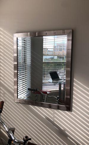 Decorative silver wall mirror for Sale in Washington, DC