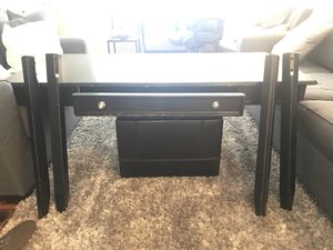 Desk real wood disassembled all screws present for Sale in Orlando, FL