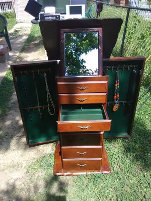 Jewelry Armoire with Mirror for Sale in Washington, DC