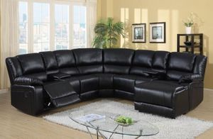 5-PC Black U- Shaped Sectional Recliner Set for Sale in Sugar Land, TX