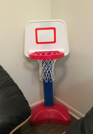 Basketball hoop and ball indoor used only for Sale in Alexandria, VA