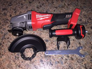 "Photo Tool only!!! Milwaukee Fuel Brushless 4-1/2"" to 5""inch grinder Never Used. Tool only!!!"