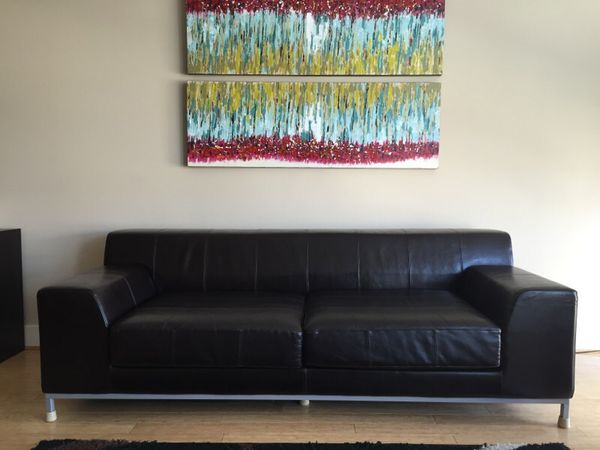 Incredible Ikea Kramfors 3 Seater Leather Sofa For Sale In Philadelphia Pa Offerup Download Free Architecture Designs Scobabritishbridgeorg