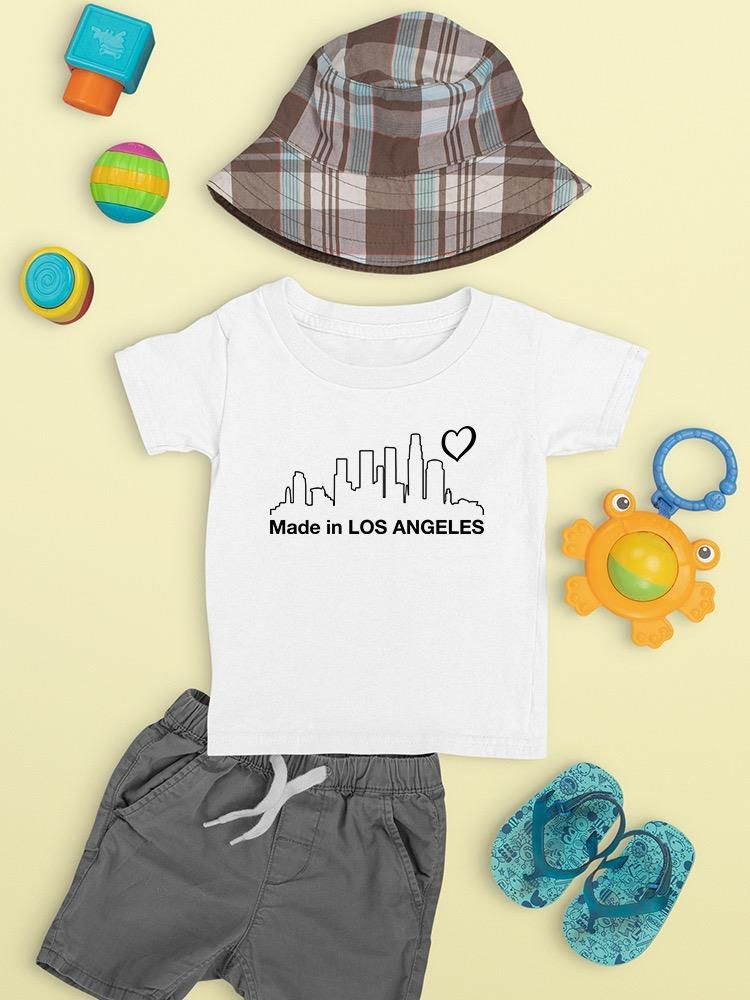 Smartprints Made In Los Angeles Cityscape T-shirt Baby's -SmartPrintsInk Designs White Size 6M