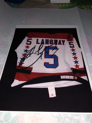 Autographed Rod Langway, Washington Capitals Great 8 x 10 Photo, complete with Certificate of Authenticity for Sale in Fairfax, VA