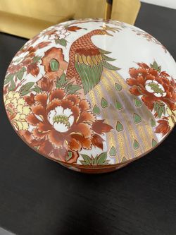Vintage Japanese Bowls With a Peacock In Beautiful Colors. I Used It For Jewelry Thumbnail