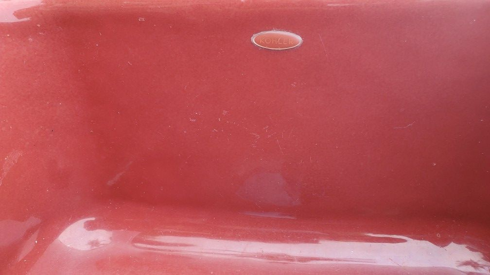 Iron Cast Sink , 3 Sizes, 4 Sinks, Roussillon Red