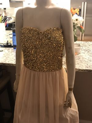 Custom made never worn long evening gown-size 18 for Sale in Boston, MA